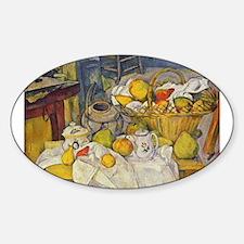 Still Life with Fruit Basket Sticker (Oval)