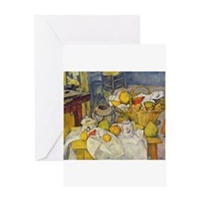 Still Life with Fruit Basket Greeting Card