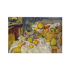Still Life with Fruit Basket Rectangle Magnet (100