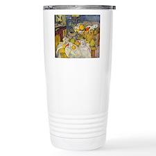 Still Life with Fruit Basket Travel Mug