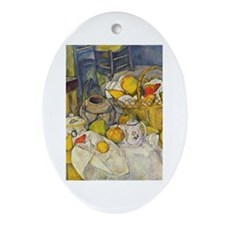 Still Life with Fruit Basket Ornament (Oval)