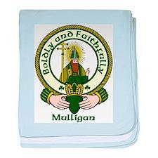 Mulligan Clan Motto baby blanket