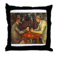 The Cardplayers Throw Pillow