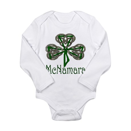 McNamara Shamrock Long Sleeve Infant Bodysuit