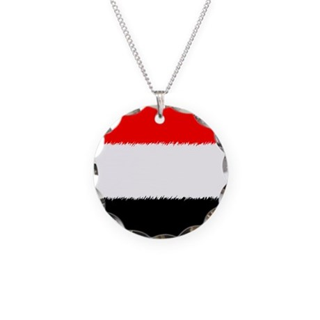 Support Egypt Necklace Circle Charm