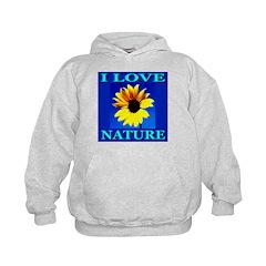 I Love Nature Kids Hoodie