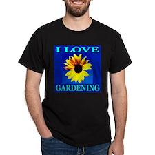 I Love Gardening Black T-Shirt