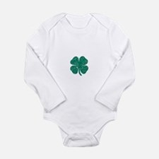 Vintage Shamrock Long Sleeve Infant Bodysuit