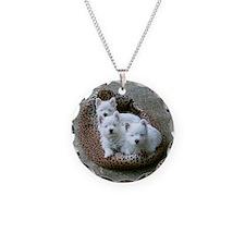 Irresistible Westie Puppy Tri Necklace