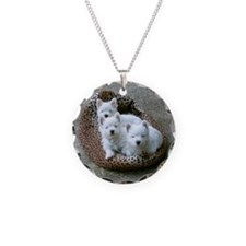 Irresistible Westie Puppy Tri Necklace Circle Char