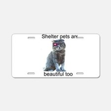 Shelter Pets Aluminum License Plate