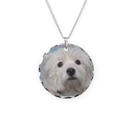 Westie Wonder Necklace Circle Charm
