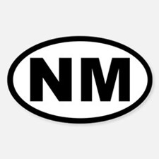 NEW MEXICO STATE OVAL STICKERS Oval Decal