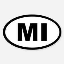 MICHIGAN STATE OVAL STICKERS Oval Decal