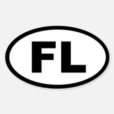 FLORIDA STATE OVAL STICKERS Oval Decal