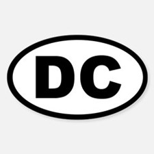 DC STATE OVAL STICKERS Oval Decal