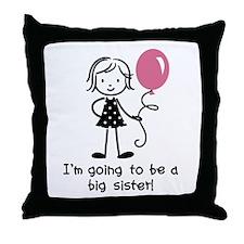 Big Sister to be Throw Pillow