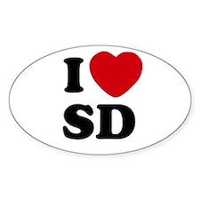 I Heart SD San Diego Decal