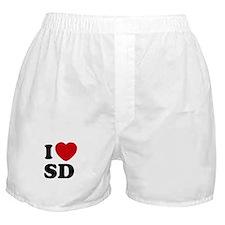 I Heart SD San Diego Boxer Shorts Underwear