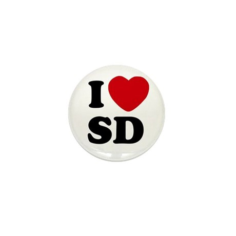 I Heart SD San Diego Mini Button / Pin
