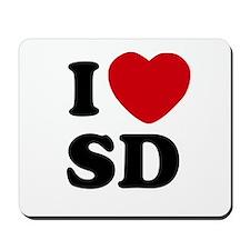 I Heart SD San Diego Mousepad
