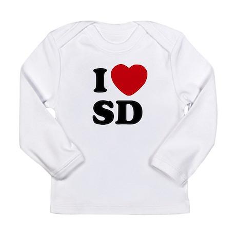 I Heart SD San Diego Long Sleeve Infant T-Shirt