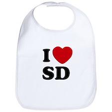 I Heart SD San Diego Baby Bib