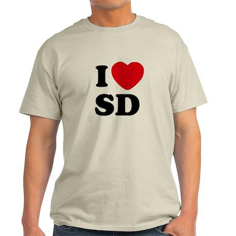 I Heart SD San Diego Light T-Shirt