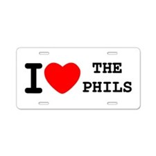 I Heart The Phils Aluminum License Plate