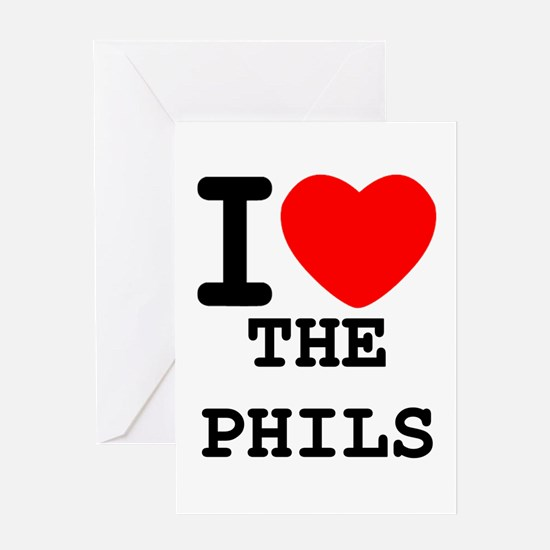 I Heart The Phils Greeting Card