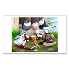 Six Pouter Pigeons Decal