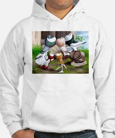Six Pouter Pigeons Hoodie