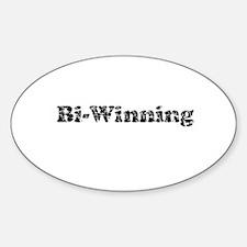 Vintage Bi-winning 3 Decal