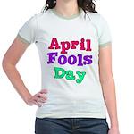 April Fool's Day Jr. Ringer T-Shirt