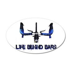 Life Behind Bars 22x14 Oval Wall Peel