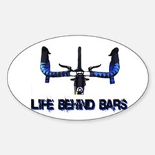 Life Behind Bars Sticker (Oval 10 pk)