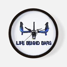 Life Behind Bars Wall Clock