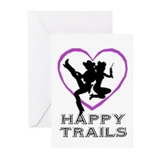 """""""Happy Trails Lesbians"""" Greeting Cards (Package of"""