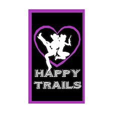 """Happy Trails Lesbians"" Rectangle Decal"