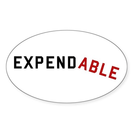 Expendable Sticker (Oval)