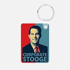 Scott Walker Corporate Stooge Keychains