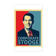 Scott Walker Corporate Stooge Bumper Stickers