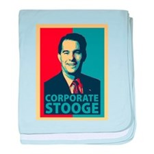 Scott Walker Corporate Stooge baby blanket