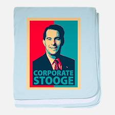 Scott Walker Corporate Stooge baby blanket