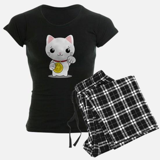 Maneki Neko - White Lucky Cat Pajamas