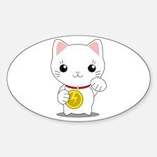 Maneki Neko - White Lucky Cat Decal