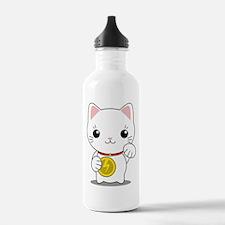 Maneki Neko - White Lucky Cat Water Bottle