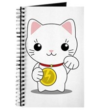 Maneki Neko - White Lucky Cat Journal
