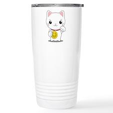 Maneki Neko - White Lucky Cat Travel Mug