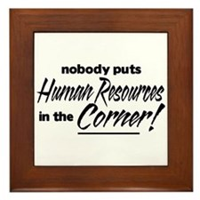 HR Nobody Corner Framed Tile